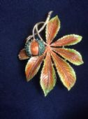 1960's Signed Exquisite Horse Chestnut Brooch - Conker Pin ( Number Three) SOLD